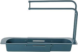 Heyeam Telescopic Sink Rack Holder Expandable Storage Drain Basket Rack Sponge Holder Drainer Sink Tray for Home Kitchen S...