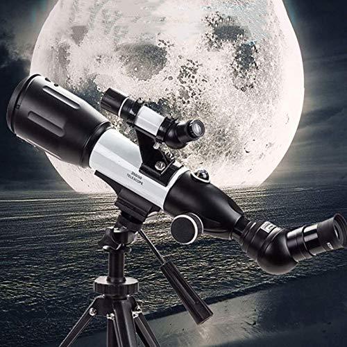 Apertura de 50 mm Distancia focal de 500 mm Montaje en AZ Refracción astronómica, HD Profesional / impermeable A prueba de niebla Visión nocturna con poca luz Durable, con mochila y filtro de