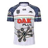 AFDLT Rugby Jersey,2019 Coupe du Monde Jaguar Hero Edition,Polo Shirt,Summer Sports Loisirs T-Shirts,Hommes Respirant Maillot de Football,White,XXL