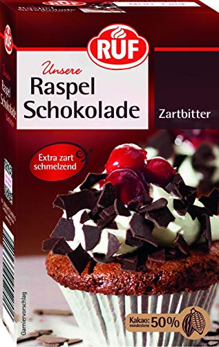 RUF Raspel Schokolade Zartbitter, 11er Pack (11 x 100 g)