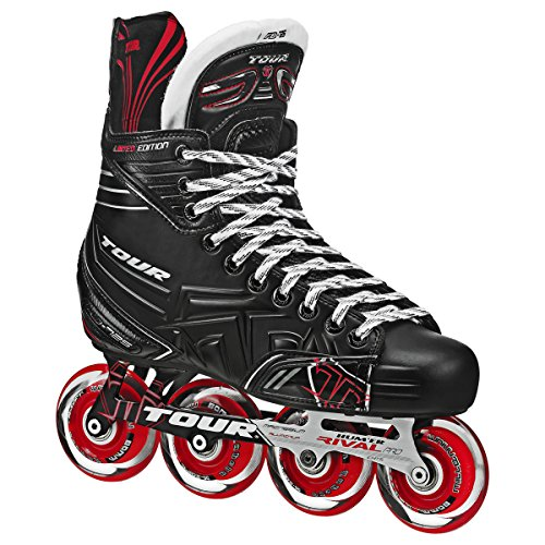 TOUR Hockey Adult FB-725 LE Inline Hockey Skates Black/Red Size: 5...