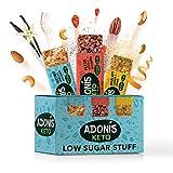 Adonis Low Sugar Nut Bar - Assortiment de Barres aux Noix | 100% Naturelle, Faible teneur en Sucre et Glucides, Sans Gluten, Vegan, Keto, Paleo, Superfood (16)