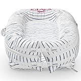 Newborn Baby Nest, TotAha Superior Dock for A Tot, Organic Cotton Baby Lounger for Co-Sleeping, Secure Comfort Portable Baby Sleeper Bed Bassinet, Newborn Essentials Must-Have for 0-12 Month -Stripe