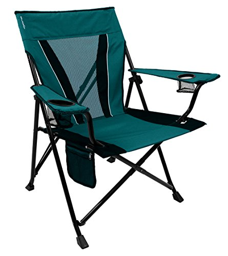 Kijaro XXL Dual Lock Portable Camping and Sports Chair, Ireland Green