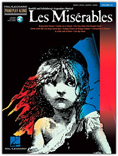 Piano Play-Along Volume 24: Les Miserables. Partitions, CD pour Piano, Chant et Guitare