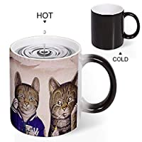 Discoloration Mug エアロスミス Aerosmith 変色マグセラミックコーヒーカップ感熱熱変色水カッププリントカップクリエイティブカップ300ml