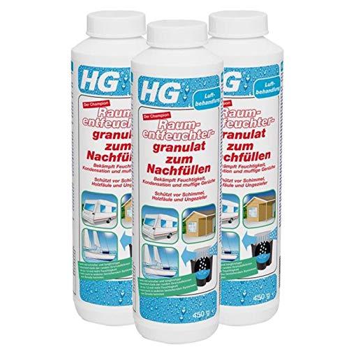 Gardopia Sparpaket - HG Raumentfeuchter-Granulat zum Nachfüllen Neutral, 3 x 450 g