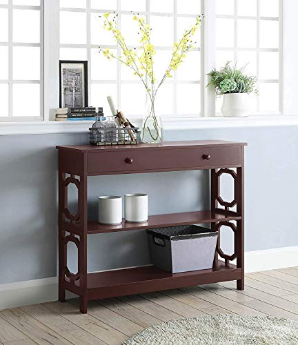 Convenience Concepts Omega 1 Drawer Console Table, Espresso