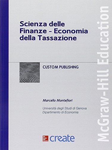 Scienza delle finanze. Economia della tassazione