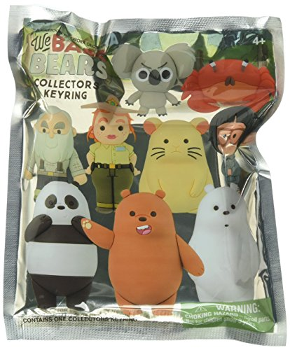 Cartoon Network A Original - We Bare Bears - Mystery Pack | Collectible Toy Figure Keychains from The Hit TV Show | Featuring Grizzly, Ice, Panda Bear & More Animals | Key Chain Fun for Kids & Adults