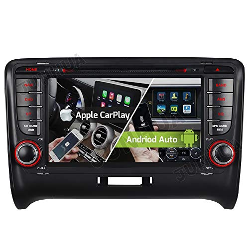 Android 10.0 2+32GB Dual-Tuner Android Auto+Carplay Bluetooth 5.0 DVD GPS Navigation Autoradio für Audi TT TTS TT RS DAB + WiFi 4G OBD2