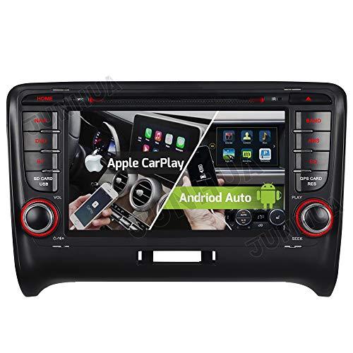 Android 10.0 2+32GB Dual-Tuner Android Auto+Carplay Bluetooth 5.0 DVD GPS Navigation Autoradio für Audi TT TTS TT RS DAB + WiFi 4G OBD2