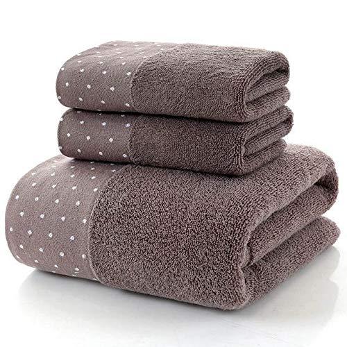 Heliansheng Baño Familiar para Adultos Hotel niños Toalla de Ducha de baño de algodón Grande Toalla Gruesa -B8-3pcs (2pcs S 1pcs L)
