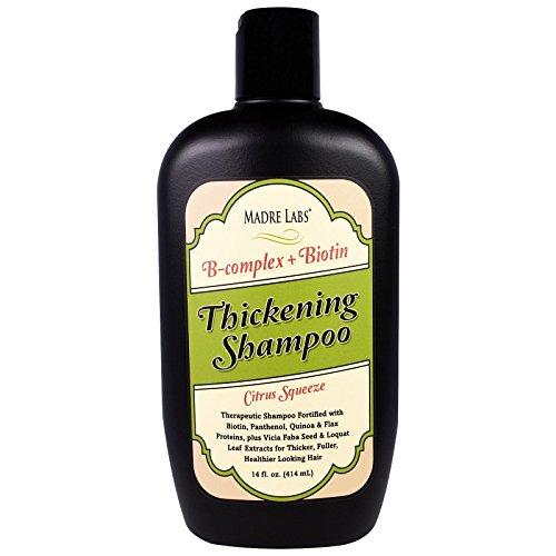 Eindickung B-Complex + Biotin Shampoo, keine Sulfate, Citrus Squeeze - Madre Labs