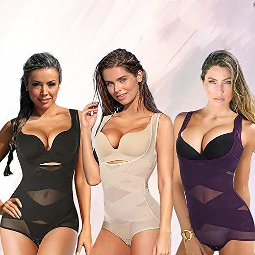 HJXY Fajas para Mujer Lucy Cintura Alta Control de Abdomen Levantamiento de GlúTeos, Adelgazamiento, Moldeador de Cuerpo (2XL 20-22,Negro + Beige + Morado)