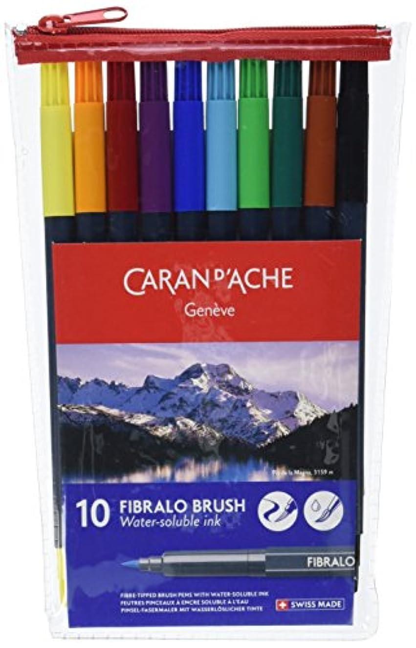 Caran d'Ache Fibralo Fibre-Tipped Brush Pens Set of 10