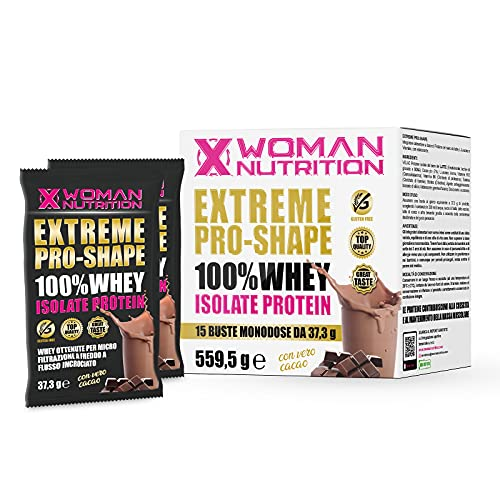 EXTREME PROSHAPE CIOCCOLATO Whey Protein 15 buste 37,3g - crescita, mantenimento, recupero muscolare