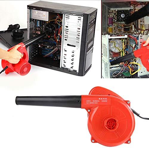 Jacksking Elektrischer Computer-Staubtuch, 1000W Handluftgebläse Luftpumpe Gebläse-Staubtuch für Computer-Auto-Haushaltsgerät(EU-Stecker)