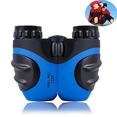 Binoculars for Kids, Outdoor Mini Compact 8 x 21 Telescope for Wildlife &Bird Watching Best Gift for Boys &Girls (Blue)