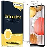 [2 Pack] UniqueMe Protector de Pantalla para Samsung Galaxy A42 5G, Vidrio Templado [9H Dureza] HD Film Cristal Templado