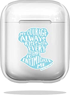 Case Cover My Courage Rises Pride and Prejudice Jane Austen Quote Design Compatible with Airpod Pro Airpods Shock Scratch ...