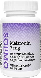 Amazon Brand - Solimo Melatonin 3mg, 240 Tablets, Eight Month Supply