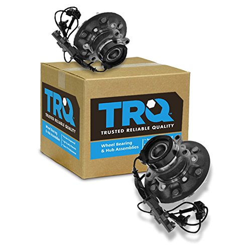 TRQ Wheel Hub & Bearing Front Set Pair for Chevy Truck 4WD 4x4