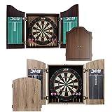 DMI Sports Dublin Bristle Dartboard Cabinet Set - Bristle Dartboard Included