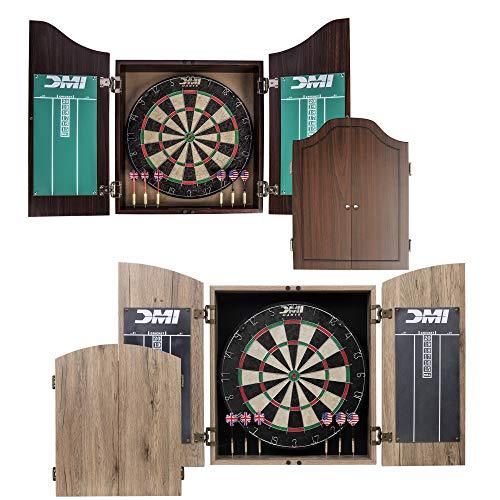 DMI Sports Dublin Bristle Dartboard Cabinet Set -...