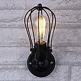 LHTCZZB Aplique de alambre Aplique de pared, Lámparas de pared y apliques y apliques de pared, Aplique de pared industrial...