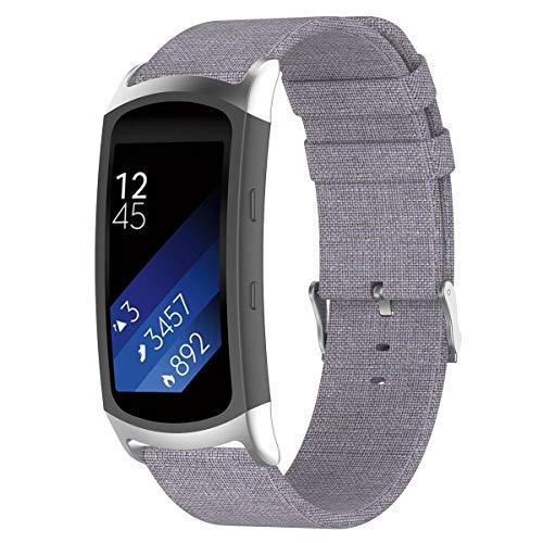 KOBWA Für Samsung Gear Fit 2 Pro/Gear fit 2 Armband, Wasserdicht Segeltuch Uhrenarmband Ersatz Band für Samsung Fit2 Pro SM-R365/Gear Fit2 SM-R360