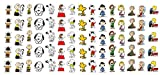 Peanuts Charlie Brown, Snoopy & Friends Waterslide Nail Art Decals - Salon Quality