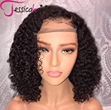 Jessica Hair 13x6 Lace Front Wigs Human Hair Wigs For Black Women Curly Brazilian Virgin Hair Glueless with Baby Hair(14 inch with 150% density)