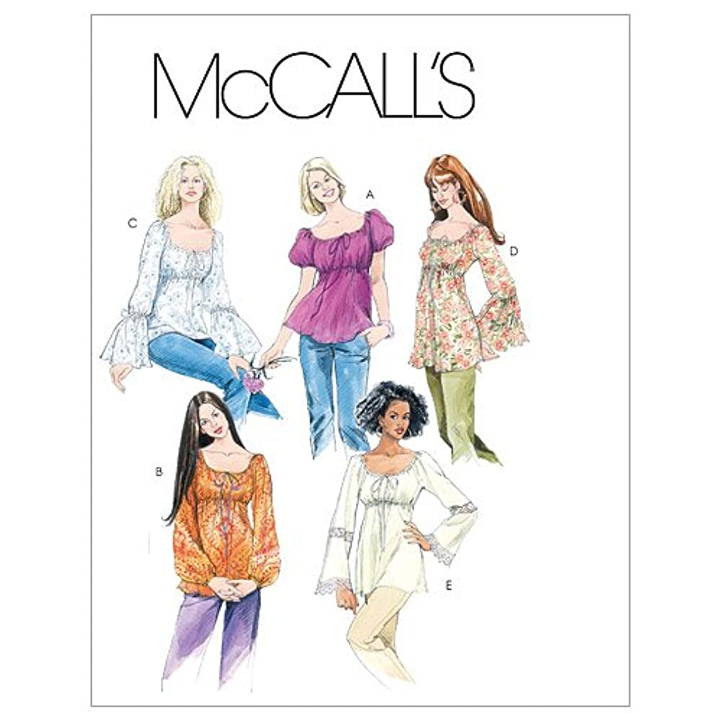 McCall's Patterns M5050 Misses' Tops and Tunics, Size Z (LRG-XLG)