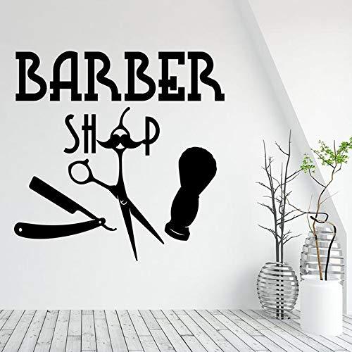 Tianpengyuanshuai Adesivo murale Modello Barbiere Adesivo murale Negozio di Barbiere Adesivo murale 63X63cm