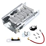 279838 Dryer Heating Element and 279816 Thermostat Kit & Thermal Fuse 3392519 By Appliancemate Replacement for 279838 Whirlpool Heating Element with Thermostat Combo Pack Replaces 8565582 3398064