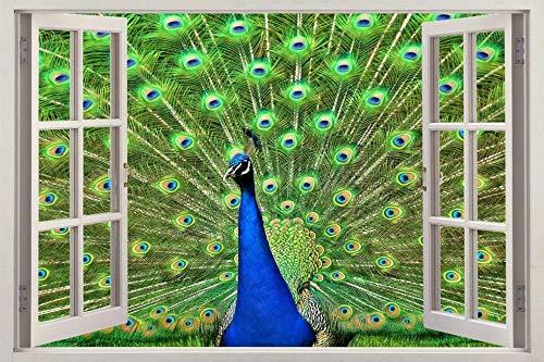 Wandaufkleber Peacock 3D Window Decal Wall Sticker Home Decor Art Mural Animals J504