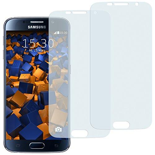 mumbi Schutzfolie kompatibel mit Samsung Galaxy S6 Folie, Galaxy S6 Duos Folie klar, Displayschutzfolie (2x)