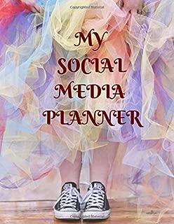 My Social Media Planner: Social Media Content Calendar Business Posts Planner