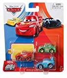 Disney Pixar Cars - Mini Racers 3 Pack - Mcqueen, Chick Hicks and The King
