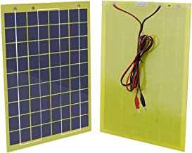 ECO-WORTHY Waterproof 10 Watts 12 Volts Epoxy Solar Panel Module with Diode 12V Battery Charger Camping