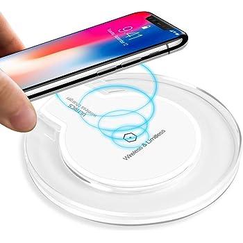 ULTRICS Chargeur sans Fil, Qi Certifié Chargeur Induction, Universel Standard Wireless Charger Compatible avec iPhone 11 Pro/XS Max/XR/X Se, Samsung Galaxy S20/ S10/ S9/ S8 Plus Note 10/9 – Blanc