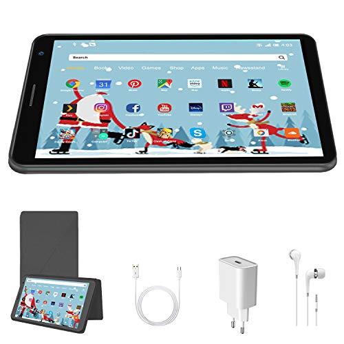 Tablet 8 Pollici 3GB + 32GB Espandibile fino a 128GB, Tablet con Processore Quad-Core Android 10.0, Fotocamera di 2MP + 5MP, WiFi (grigio)
