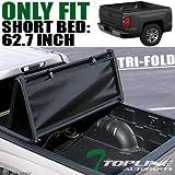 Topline Autopart Tri Fold Soft Vinyl Truck Bed Tonneau Cover For 15-19 Chevy...