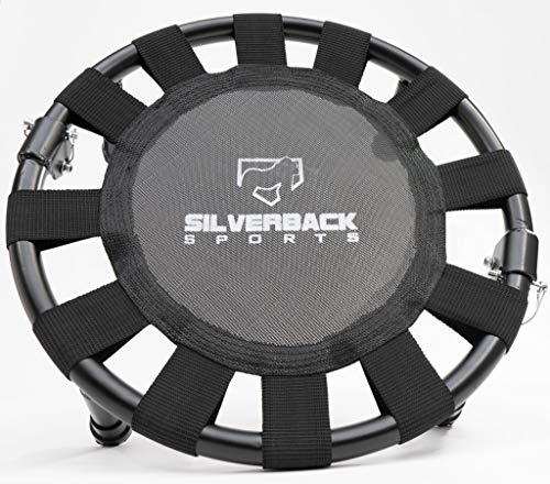 Total Arm Care Silverback TAC Plyo Ball Mini-Trampoline | Fun Fitness Baseball Rebounder for Kids and Adult w/Carry Bag