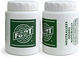 FOOT SENSE All Natural Smelly Foot & Shoe Powder - Foot Odor Eliminator lasts up to 6 months. Safely kills bacteria. Natur...