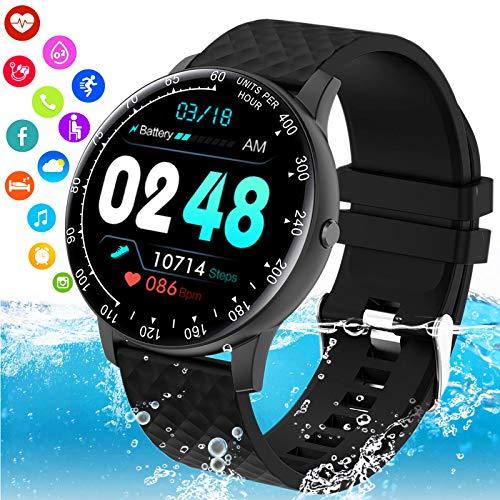 Mahipey Smartwatch Orologio Fitness Donna Uomo, Blutooth Smart Watch Impermeabile Ip68 Con Pressione Sanguigna Cardiofrequenzimetro Messaggi Activity Tracker Con Contapassi Calorie Per Android iOS
