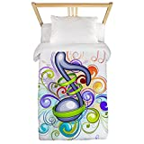 Truly Teague Twin Duvet Cover Music Note Colorful Burst