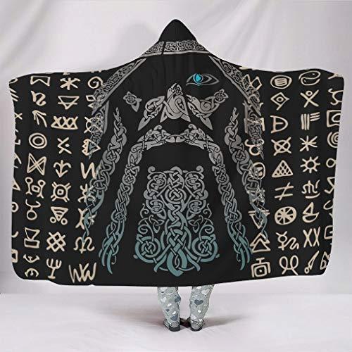 Sudaderas con capucha para hombre vikingo, original, suave, estilo retro, estilo bata, compatible con la hora del almuerzo para mujeres/hombres, regalo blanco de 60 x 80 pulgadas