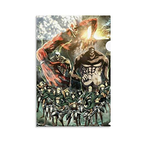 Shingeki No Kyojin Titanes Poster sur toile et art mural Impression moderne de chambre familiale 30 x 45 cm